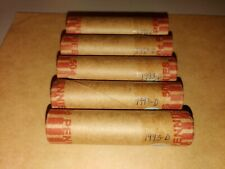 5 Rolls 1993 D Lincoln Memorial Cents Obw Uncirculated Errors? Bright End Coins