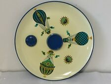 VINTAGE GEORGES BRIARD LAZY SUSAN SPINNING SNACK TRAY HOT AIR BALLOONS SERVING