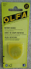 OLFA-Replacement Rotary Blades: 28mm. 2-Pk ~ NEW