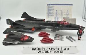 Cobra Night Raven SR-71 Blackbird Jet 100% Complete 1986 GI Joe Hasbro Vintage