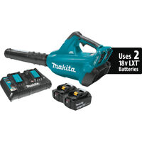 Makita 36V LXT Li-Ion Cordless Blower Kit w/ Dual Charger & Two 5.0Ah Batteries