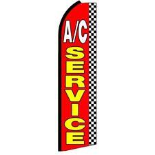 AC SERVICE Swooper Half Curve Advertising PREMIUM WIDE Flag