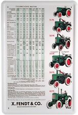 Fendt Traktoren Traktor Blechschild 20x30 Tin Sign Metallschild 512