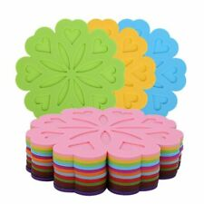 Silicone Mug Coasters Pad Placemats Cup Table Mat Flower Shape Table Kitchen