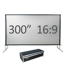 """300"""" Fast fold projection screen, Front and rear, 16:9 HD Fastfold Fixed/framed"""