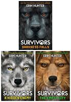 Erin Hunter Survivors Series 3 Books Collection Set (Darkness Falls, A Hidden En