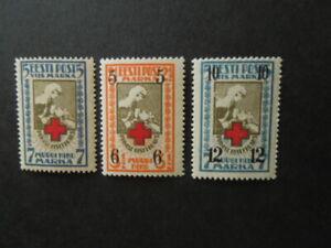 G1374  ESTONIA  1923+1926  RED  CROSS  MI 47+60+61  MH