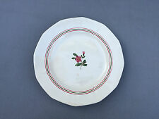 Ancien plat rond en porcelaine Sarreguemines Armelle art de la table