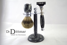 Shaving Set Basalt Brush Badger Hair Silvertip Shaver Dr.Dittmar Germany