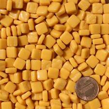 8mm Mosaic Glass Tiles - 2 Ounces About 87 Tiles - Strong Yellow