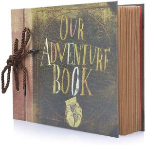 Photo Album Scrapbook, Our Adventure Book, DIY Handmade Album Scrapbook Movie Up