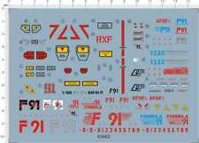 Detail Up 1/100 Scale RXF-91A RXF 91 RXF91 MG Gundam Model Kit Water Slide Decal