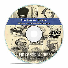 Ohio OH, People Cities Towns, History and Genealogy 104 Rare Books DVD CD B14