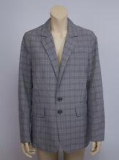 BURBERRY BRIT Cotton/Linen Blend Straight Blazer Jacket SIZE USA 10,UK 12, EU 38