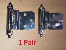2 Chrome Finish Self Closing 3/8 Inset Semi-Concealed Hinge Cabinet Door 34921