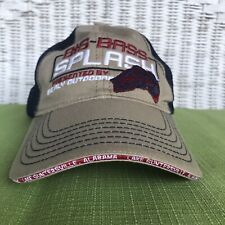 Big Bass Splash Fishing Tournament Cap Hat Tan Red Blue Mesh Guntersville Lake