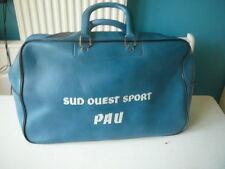 sac de voyage Sud Ouest Sport Pau simili cuir bleu souple vintage 70's