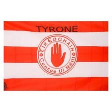 More details for tyrone gaa official 5 x 3 ft flag - crested irish gaelic football hurling