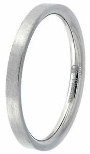 2mm Titanium Men Women Wedding Band Toe Thumb Ring Plain Thin Stackable Flat
