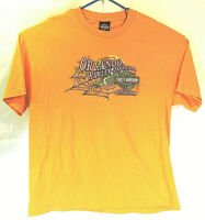 harley davidson mens XL short sleeve t shirt orange halloween style orlando 2011