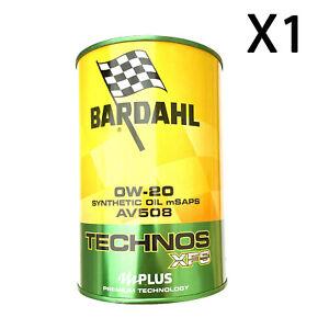 1 Litre Huile Moteur Bardahl Technos Xfs AV508 0W20 Acea C5 A1 B1 VW508 00 509