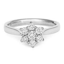 18Carat White Gold Quarter Carat Diamond Seven Stone Daisy Cluster Ring 0.25cts