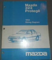 1992 Mazda 323 Protege Wiring Diagram Manual Shop Repair