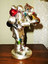 New Mida Argenti Silver Clown Italy Hand Painted Balloon Man