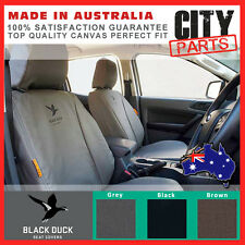 BLACK DUCK FRONT CANVAS SEAT COVERS ISUZU DMAX 5/2012 ON SX LS, LS-U, LS-M DUAL