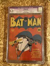 D.C comics golden age batman #6 cgc restord grade 6.5  8-9/41