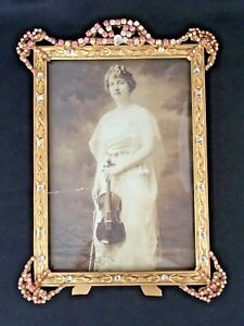 ANTIQUE JEWELED PICTURE FRAME
