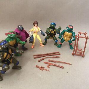 Vintage 1980's Playmates TMNT Teenage Mutant Ninja Turtles Figure Job Lot 2
