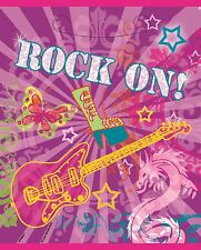 Rock on Party Bags, Birthday Party Loot Bags butterflies and guitars Rock music