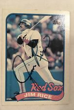 HOF Jim Rice Autograph Signed Topps 1989 Baseball Card FREE FAST SHIPPING!