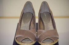 "Adrienne Vittadini Bailee Sz 10 Shantung Silk Espadrille 3"" Wedge Open Toe Shoes"