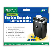 Nuova Shredder Sharpening Amp Lubricant Sheets 12 Counts