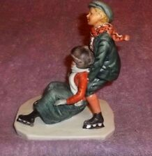 Norman Rockwell Skating Style Rw-7 Figurine Saturday Evening Post