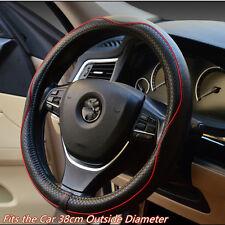 38cm 100% Cuero Genuino Real automóvil SUV Volante Cubierta Antideslizante Transpirable