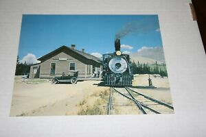 """ART  COLOR PRINT C&S TRAIN AT DILLON STATION 8""""X 10"""" FROM ESTATE"""