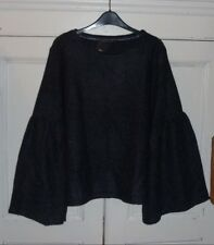MARKS & SPENCER LADIES WOMENS NAVY BLUE FLUTE SLEEVE JUMPER UK SIZE 20 - NEW