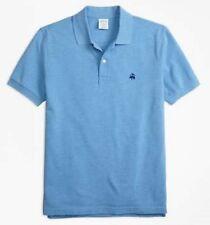Brooks Brothers Men's Blue Slim Fit Short Sleeve Polo Shirt