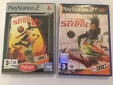 2 x COMPLETE PAL PLAYSTATION 2 PS2 EA SPORTS GAMES FIFA STREET 1 I & 2 II