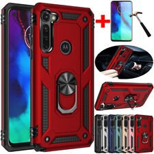 For Motorola Moto G Stylus Shockproof Armor Ring Stand Case Cover+Tempered Glass