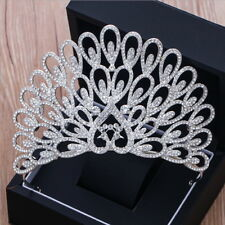 10.5cm High Large Peacock Crytal Wedding Bridal Party Pageant Prom Tiara Crown