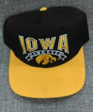 VTG-1990s University of Iowa Hawkeyes The GAME glued tag snapback hat Mint