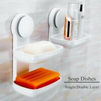 Layer Soap Dish Suction Cup Strong Sponge Holder for Bathroom and Kitchen Sink