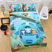 Single/Double/Queen/King Size Bed Quilt/Doona/Duvet Cover Set Octonauts Blue