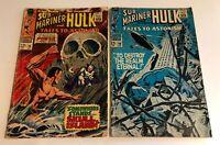1967 Vintage Silver Age Tales to Astonish #96 & # 98 Sub-Mariner  Hulk  Comics