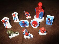 Vente Marvel-lot fèves porcelaine- Spiderman, petites&moyennes&grandes