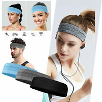 LOT Men Women Sport Headband Moisture Wicking NonSlip Wide Fitness Sweatband US